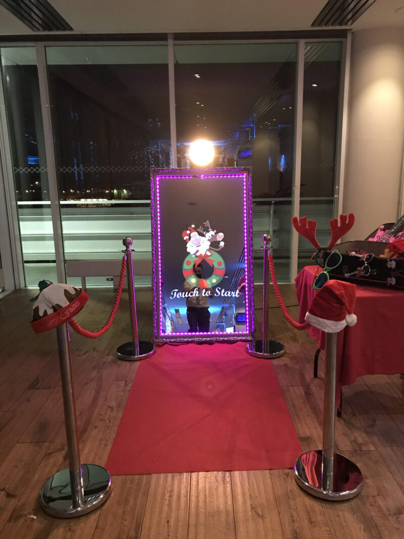 Selfie Mirror Photo Booth in Brighton for Christmas