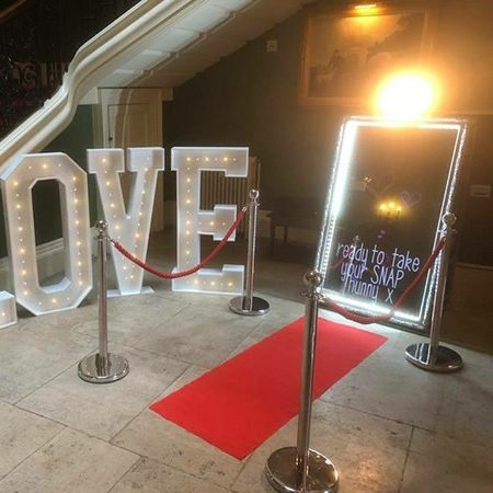Photo Booth and LED Letters in Surrey