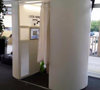 Traditional Plain White photo booth in Brighton